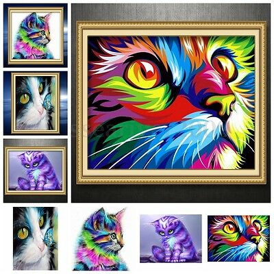 Kitten Cat Pattern 5D Diamond Painting Embroidery DIY Craft Cross Stitch Kit