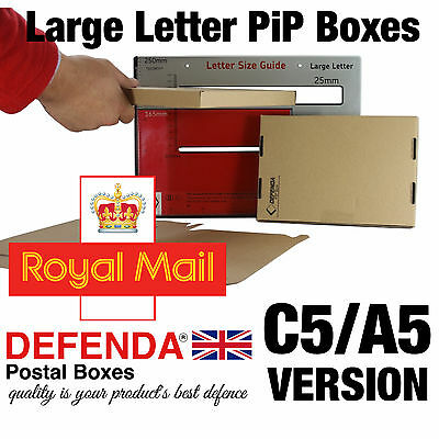 25 C5 A5 STRONG PiP Royal Mail Large Letter Size Cardboard POSTAL POSTING BOXES