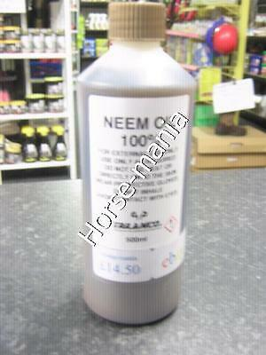 GOLD LABEL 100% PURE NEEM OIL 500ml FLY REPELLENT & HELPS SWEET ITCH ETC