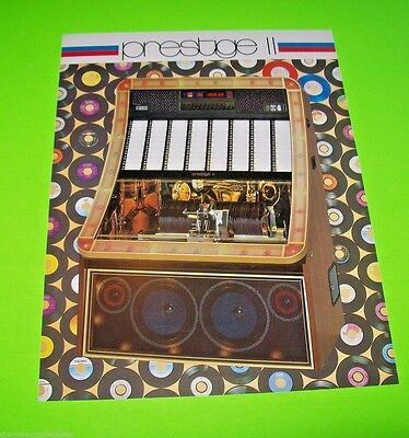 NSM PRESTIGE II Original 1980 NOS Phonograph Music Jukebox Promo Sales Flyer