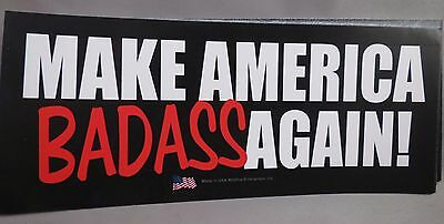 WHOLESALE LOT OF 20 MAKE AMERICA BADASS AGAIN  TRUMP STICKERS Great $ President