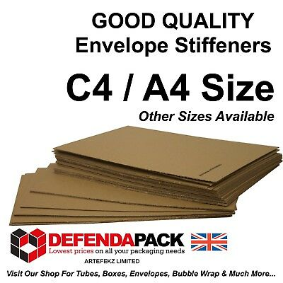 50 X C4 / A4  ENVELOPE STIFFENERS 310x215mm Corrugated Board For C4 Envelopes