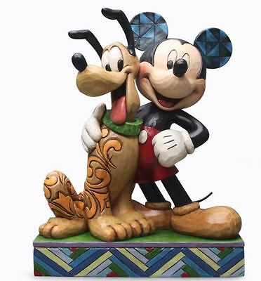 Jim Shore Disney Traditions Best Pals Mickey and Pluto Figurine 4048656 New