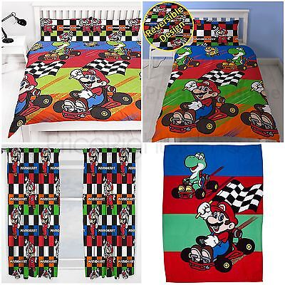 Nintendo Mario Kart Champs - Blanket, Curtains, Duvet Cover Set Single & Double