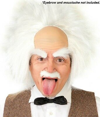 Mens Ladies Einstein Mad Scientist Halloween Fancy Dress Costume Outfit Wig