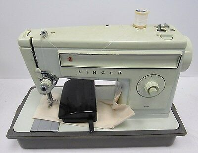 Singer Electric Sewing Machine White Vintage Spares and Repairs - CLE S3