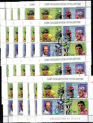 20x Congo - Famous People/Sport/Cycling - CTO -(D10)
