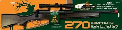 "270 Hunting Replica 28"" Bolt Action Wood Rifle Toy Fake Gun Weapon With Bullets"