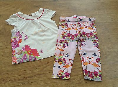 100% Ted Baker Girls Small Bundle / Outfit 9-12 Mths Top Leggings