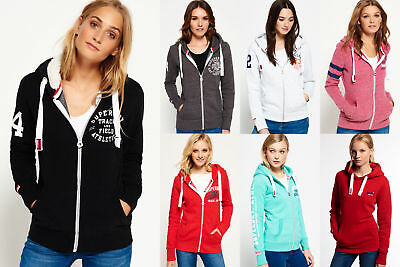 New Womens Superdry Hoodies Selection - Various Styles & Colours 3008