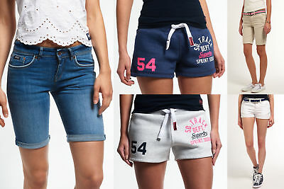 New Womens Superdry Shorts Selection - Various Styles & Colours 3008