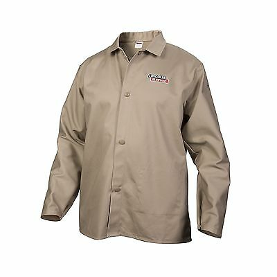 Lincoln Electric Khaki XX-Large Flame-Resistant Cloth Welding Jacket