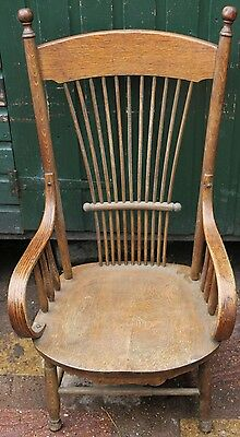 Old High Backed Farmhouse Looking Nursing Type Chair