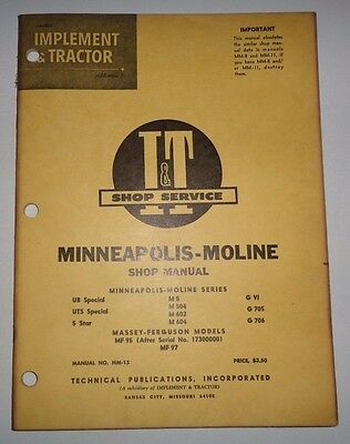 minneapolis moline 5 star silver operators owner manual 18 24 rh picclick com