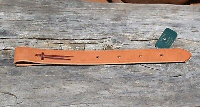 "1 3/4"" x 38"" Heavy Harness Leather Off-Billet"