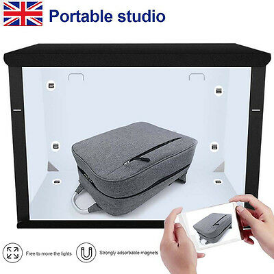 Portable Easy 50cm Foldable LED Light Tent Product Photography Photo Light Box