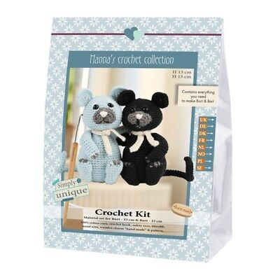 NEW | Go Handmade Crochet Kit | Emily & Friends Cats Burt & Bart |FREE POST