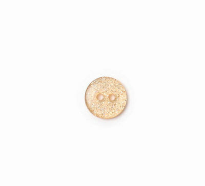 Crendon 2B/1916 | Brown Speckled Polyester Fashion Button | 2 Holes 13mm 60 Pack