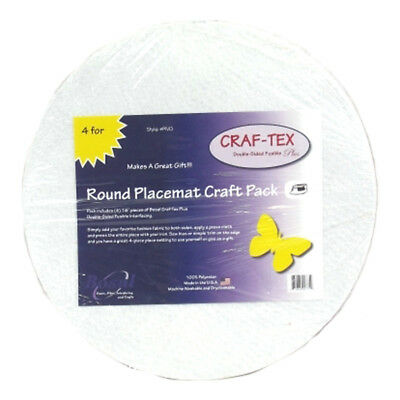 NEW | Craftex 3501-03 | Round Placemat Kit | 40cm Diameter | 4pk | FREE SHIPPING
