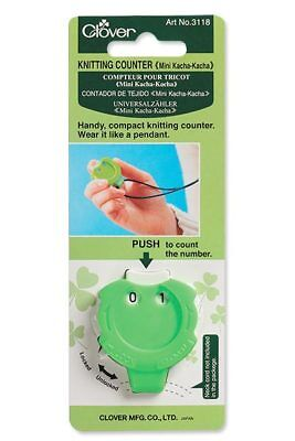 Clover CL3118 | Kacha-Kacha Mini Pendant Knitting Stitch/Row Counter/Register