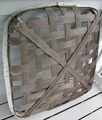 Antique X-Large Tobacco Drying Basket W/old White Painted Rim Signed Dillon Sc