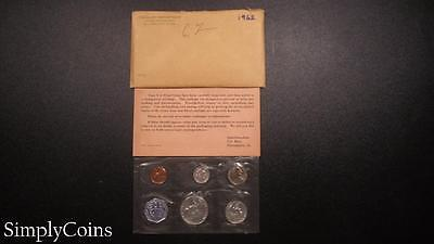 1962 Proof Set ~ Original Envelope With COA ~ US Mint Silver Coin Lot SKU-448