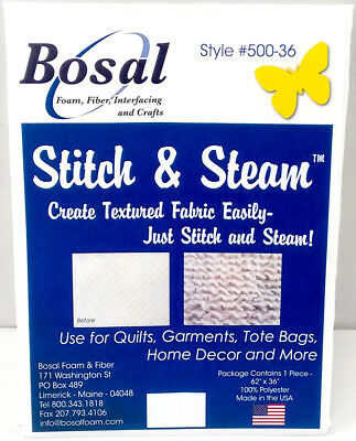 Bosal 3506-01 | Polyester Stitch and Steam for Texturing | 155x45cm | FREE POST