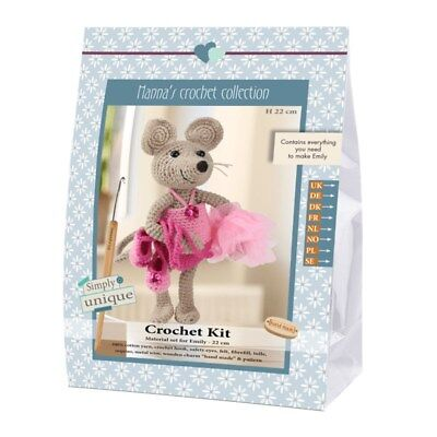 NEW | Go Handmade Crochet Kits Emily & Friends Mouse Emily | FREE SHIPPING