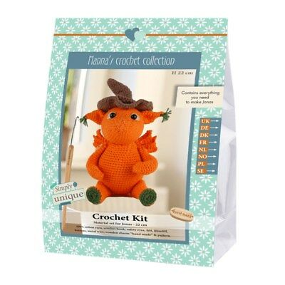 NEW | Go Handmade Crochet Kit | Helmut & Friends Dragon Jonas | FREE SHIPPING