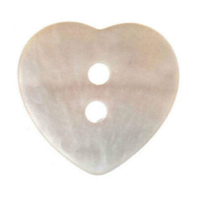 Trimits | Dyed Heart Agoya 2-Hole Shell | 24 Lignes/15mm | Natural | G441224-01