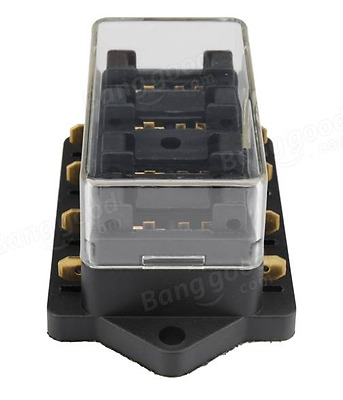 4-Way Ato/Atc Blade Fuse Holder Box Car Vehicle Circuit