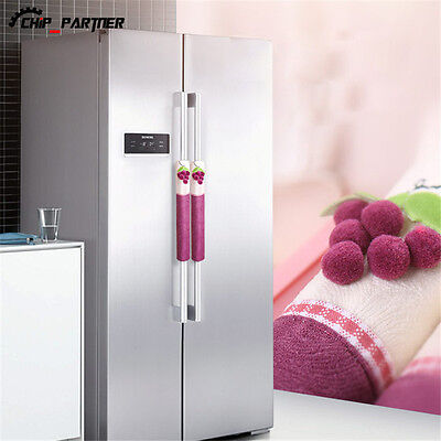 Refrigerator Handle Covers Kitchen Appliance Fridge Microwave Oven Covering Wrap