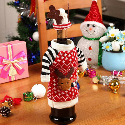 Wine Bottle Cover Bags Xmas Dinner Table Decors Party Supplies  Charity item