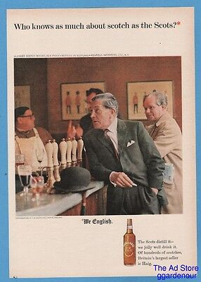 1964 Haig & Haig Who knows as much about scotch as the Scots We English ad