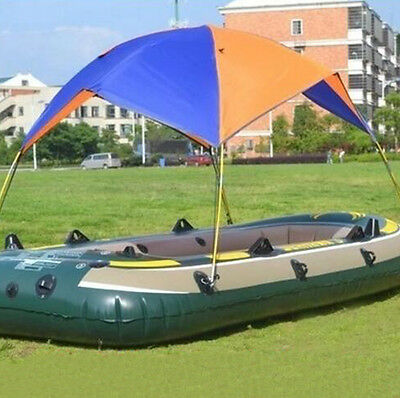 Inflatable Boat Rubber Sun Shelter Foldable Fishing Tent Sunscreen 2-4 Person