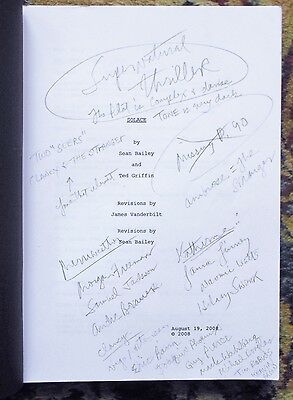 """2008 ANNOTATED SCREENPLAY for FILM """"SOLACE"""" w/ Colin Farrell, Anthony Hopkins"""