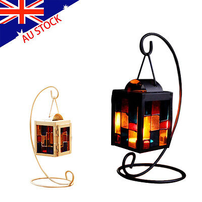 Great Retro Iron Moroccan Style Christmas Candlestick Lamp Candleholder Light