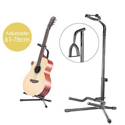 New Black Acoustic Electric Guitar Folding Tripod Gear Metal Stand Holder AU