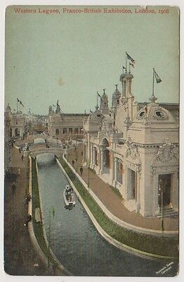Franco British Exhibition, London 1908 postcard - Western Lagoon