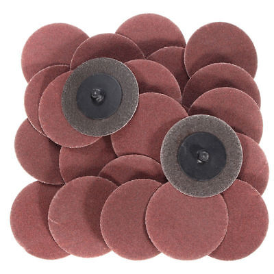 """25Pc 2"""" 120 Grit Roloc Cleaning Conditioning Roll Lock Surface Sanding Discs Kit"""