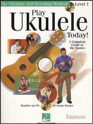 Play Ukulele Today Level 1 Learn How to Play Beginner Method Music Book/CD
