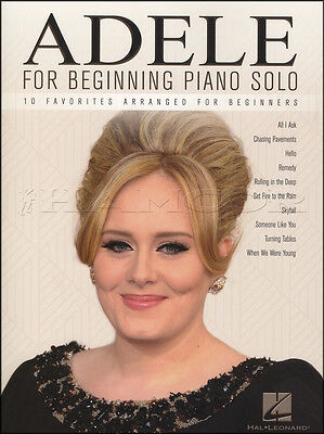 Adele for Beginning Piano Solo Sheet Music Book 19 21 25 Skyfall Hello Remedy