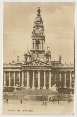Hampshire postcard - Portsmouth, Town Hall
