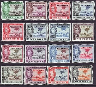 Gambia 1938 SC 132-143 MH Set