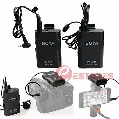 BOYA BY-WM4 2.4G Wireless Lavalier Microphone For EFP ENG DSLR Camera Smartphone