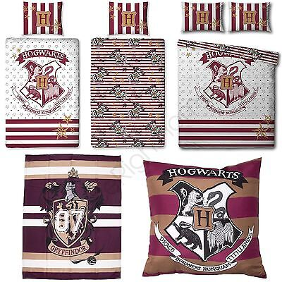 Harry Potter Muggles Cushion, Blanket, Curtains, Single / Double Duvet Cover Set
