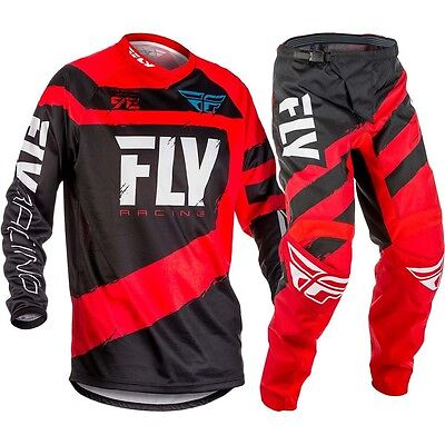 New 2018 Fly F16 Jersey Pant Kit Kids Youth Red 22 24 26 28 Motocross