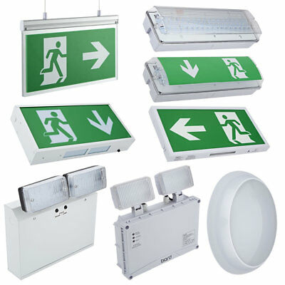 LED Emergency Lighting, Exit Sign & Bulkhead Maintained / Non Maintained Light