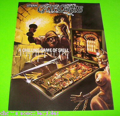 CATACOMB By STERN 1981 ORIGINAL NOS PINBALL MACHINE PROMOTIONAL SALES FLYER