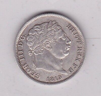 1819 George Iii Shilling In Very Fine Condition Or Slightly Better